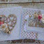 Kartka na ślub z pudełkiem - zestaw 1 - kartka z pudełkiem