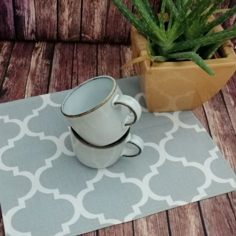 Podkładki na stół,szare maroko,30x40cm ,4sztu