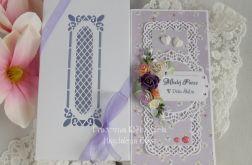 Ślubna kartka DL w pudełku z okienkiem 12