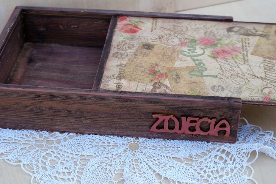 Pudełko na zdjęcia i pendrive - kilka zdjęć