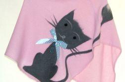 Ponczo dla dziewczynek z kotkiem 2