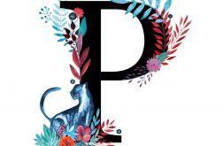 Alfabet P wydruk ilustracji