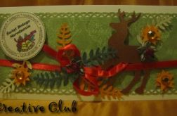 Renifer 4- Kartka świąteczna