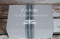 Kufer drewniany PARIS GREY