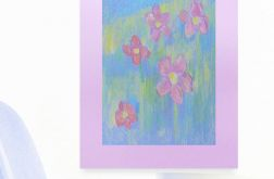 Rysunek kwiaty na fioletowym  tle nr 14 szkic