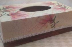 Pudełko na chusteczki w magnolie