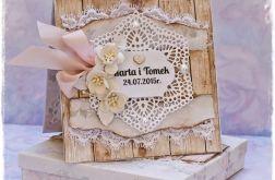 Kartka ślubna+pudełko, wzór 12