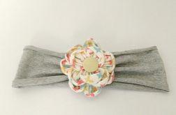 Opaska do włosów z kwiatem kanzashi kolo