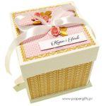 Exploding box ślubny złoto-różany - Exploding box na prezent ślubny
