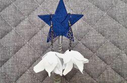 Kolczyki kwiatki na ślub, wesele, komunię 2