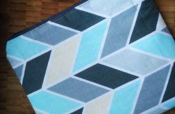 Kosmetyczka bawełniana geometryczne wzory