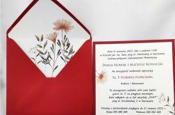 Zaproszenia Ślubne Imperial+koperta z wklejką