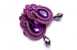 Wkrętki Sutasz w odcieniach fioletu