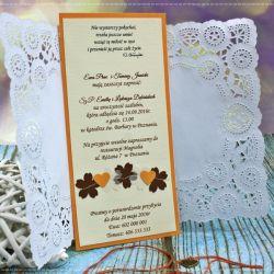 Zaproszenia ślubne -Perfect Love- flowers