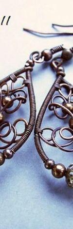 tutorial II  - kolczyki wire wrapping