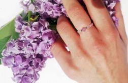 Elastyczny pierścionek lawendowy Ametyst
