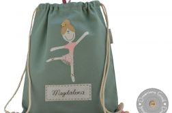 plecak worek do przedszkola z imieniem balet