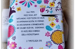 Okładka etui na Biblię Tysiąclecia Całe Pismo jest natchnione/kwiatki/Warszawska, Tysiąclecia, Edycja św. Paweł, Nowe Przymierze