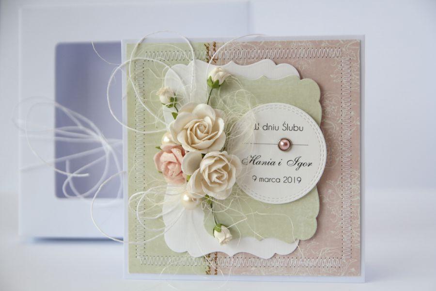 Kartka ślubna z personalizacją + pudełko 4