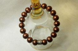 44. Bransoleta z pereł szklanych 10mm