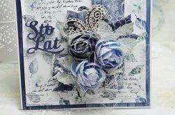 Z bukietem kwiatów kartka z pudełkiem 1