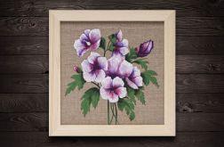 Hibiskus kwiat malarstwo płótno rama z drewna