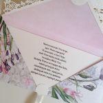 Kartka ślubna kopertówka -na ślubnym kobiercu - życzenia
