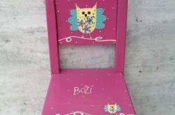 krzesełko z oparciem róż
