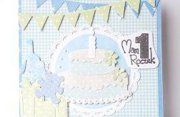 Kartka na roczek z tortem nr 3