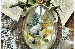 Jajko brąz 15 cm - ozdoba Wielkanocna