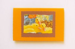 Pomarańczowa kartka wielkanocna nr 7