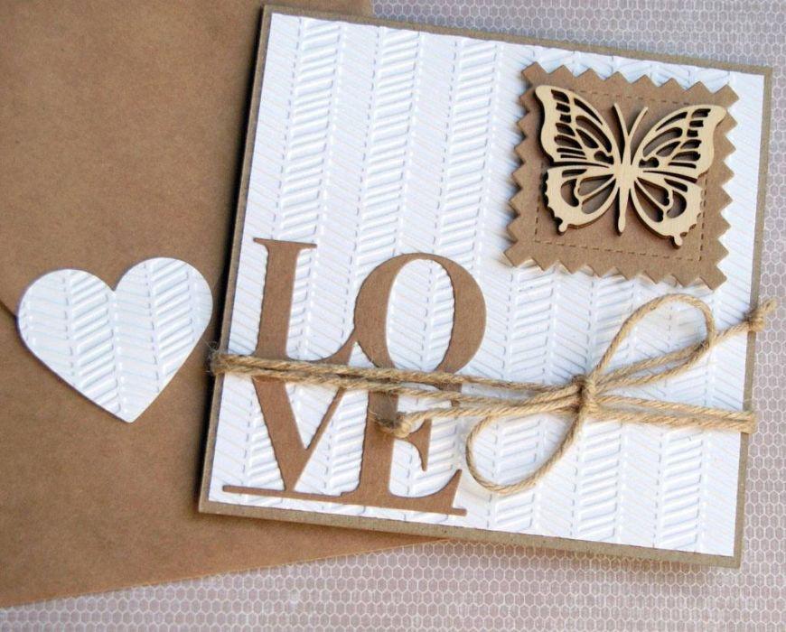 kartka ślubna :: eko : love :: motyl
