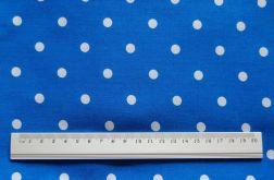 POLKA DOT - niebieska w białe kropki