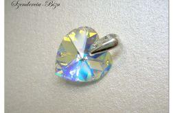 Zawieszka Swarovski Heart 14mm Crystal AB
