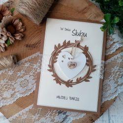 Rustykalna kartka na ślub 02
