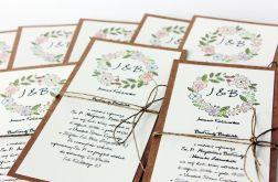 Kwiaty polne - zaproszenia ślubne