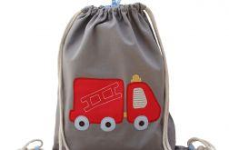 plecak worek do przedszkola wóz strażacki