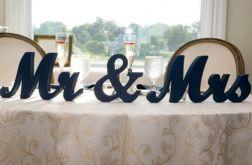 Dekoracja II Napis Ślub Mr&Mrs 15cm