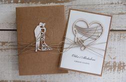 Oryginalna kartka ślubna i pudełko a11