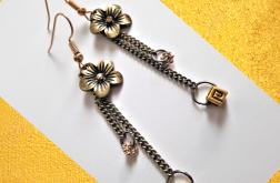 Kolczyki z serii GoldDust - kwiat