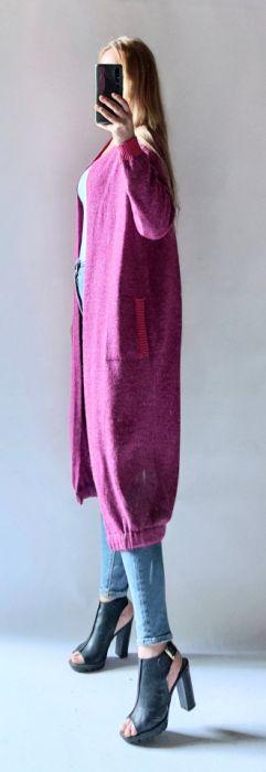 Bomberka długi sweter z kieszeniami -