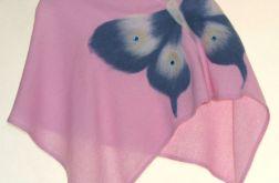 Ponczo dla dziewczynek z motylem 6