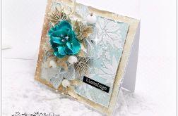 Kartka świąteczna Blue Flower