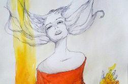 Akwarela SZAMANKA artystki Adriany Laube