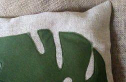 Poszewka na poduszkę z liściem monstery