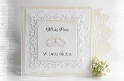 Pamiątka ślubna w bieli