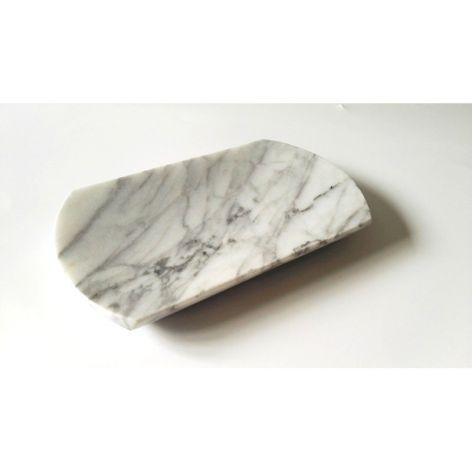 Mydelniczka z marmuru Bianco Carrara Venato
