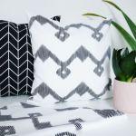 Serweta czarno biała - Zygzak 50 x 50 cm - Serweta w zestawieniu z innymi produktami
