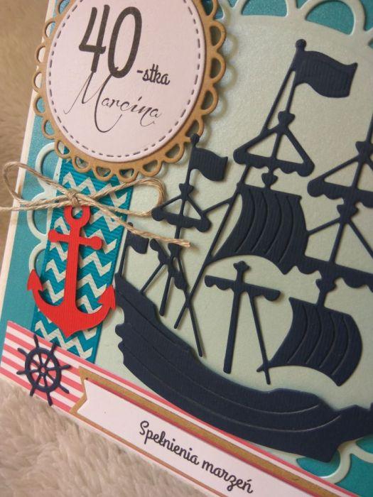 Kartka Faceta 40 30 25 Urodziny żeglarska Kartemilia