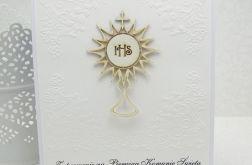 Zaproszenie na I Komunię Św-monstrancja